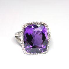 Bilkey & Co. 11ct Amethyst and diamond ring.   http://www.facebook.com/BilkeyJewellers