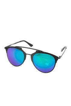 Image of AQS Sunglasses Unisex Alfie Aviator Sunglasses