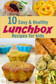 This year guarantee that your kids won't trade away their meals by serving up delicious back to school lunchbox recipes that they'll devour.  They're all healthy, use fresh ingredients and easy to make! #lunchbox #school #kids #healthy Healthy Meals For Kids, Kids Meals, Healthy Snacks, Healthy Recipes, Kid Snacks, Eat Healthy, Healthy Baking, Delicious Recipes, Lunch Box Recipes