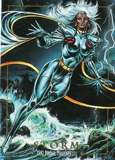 1992 Marvel Masterpieces - Storm #86 More @ http://pinterest.com/ingestorm/comic-art-storm & http://pinterest.com/ingestorm/comic-art-x-men & http://groups.yahoo.com/group/Dawn_and_X_Women & http://groups.google.com/group/Comics-Strips & http://groups.yahoo.com/group/ComicsStrips