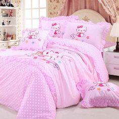 MBM (TM) Hello Kitty Bedding Set,Pink Princess Bedding Sets,Kids Bedding,Polka Dot Bedding Set,Queen/Twin Size,4Pcs (TWIN) MBM,http://www.amazon.com/dp/B00HLWYJXO/ref=cm_sw_r_pi_dp_BHS9sb1PJF5J4KFG