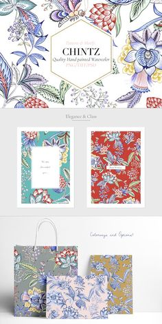Chintz #01 Seamless Patterns & more! by Pink Linen  #pattern #patterns #patterndesign #graphicdesign #design