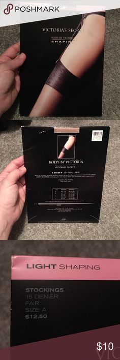 Victoria's Secret shaping stockings nude Body by Victoria light shaping stockings with sheer toes. Never worn or opened. Size A. Victoria's Secret Intimates & Sleepwear Shapewear