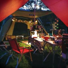 A cozy campsite - Don't forget the Underwood - underwoodspreads.com #camping #campsite #cozy