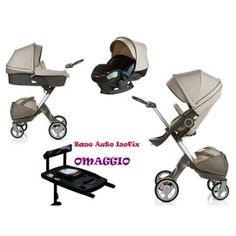 Trio 2013 + Stokke Xplory et seq. Auto Izi Sleep Isofix Car Seat Base Beige + as a gift at a price of 1229 € instead of 1428 €!  Stroller - Carrycot - Car Seat - Bag + Base car as a gift.  http://www.lachiocciolababy.it/bambino/beige_+_base_seggiolino_auto_isofix_in_regalo-4408.htm