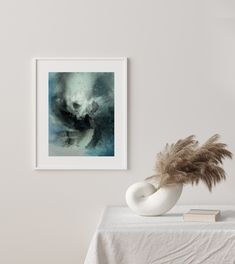 Across the Wild | Mariëtte Kotzé | Blue Abstract | Giclée Print | Limited edition of 10 Colorful Clouds, Ink Wash, Blue Abstract, White Ink, Macro Photography, Giclee Print, Fine Art Prints, Artwork, Work Of Art