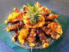 Brochettes de magret à l'ananas à la Plancha -By Toqués2cuisine