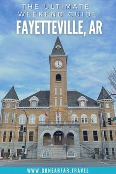 Visiting Fayetteville Arkansas? Use this two day guide to find out what to do in town so you don't miss any of the best sights and restaurants | Fayetteville Arkansas Restaurants | Arkansas Hiking | Fayetteville Arkansas Food | Things to do in Fayetteville AR Dickson Street, Road Trip Photography, Fayetteville Arkansas, University Of Arkansas, Road Trip Essentials, Free Things To Do, Road Trip Usa, Weekend Getaways, The Great Outdoors