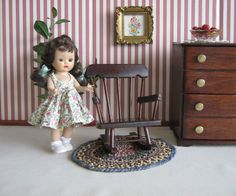Vintage Doll furniture   Hall's Rocking Chair For by TheToyBox, $25.00
