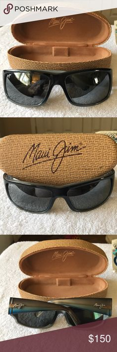 "Maui Jim ""World Cup"" surf glasses men's. Maui Jim World Cup men's sunglasses men's size large polarized lenses. These were my sunglasses only worn a handful of times in really good condition no issues. Beautiful blue and gray fade bodies with polarized lenses super comfortable tons and tons of life left in these sunglasses. Maui Jim Accessories Sunglasses"