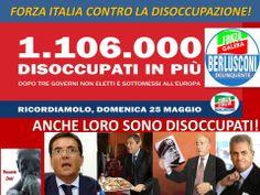 FORZA ITALIA SI PREOCCUPA (giustamente) della disoccupazione...
