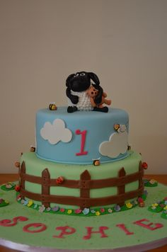 Timmy Time Cake For a little girl turning 1 Shaun The Sheep Cake, 2nd Birthday, Birthday Cakes, Birthday Ideas, Timmy Time, Coke, First Birthdays, Fondant, Little Girls