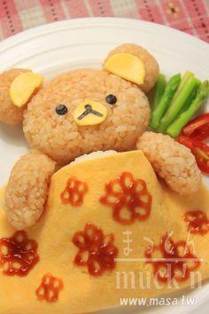 便當食譜,西洋料理-Sleepy Rilakkuma/啦啦熊蛋包飯