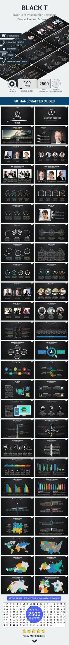 Black PowerPoint Presentation Template #slides #design Download: http://graphicriver.net/item/black-t-presentation-template/13038673?ref=ksioks
