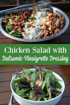 Looking for a great salad to serve at home or at a potluck? Make this Chicken Salad with Balsamic Vinaigrette Dressing to delight. via @LauraOinAK