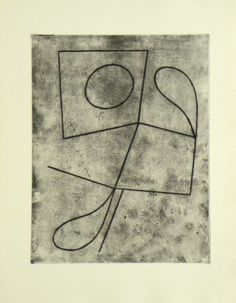 "Original etching Jean Arp, Gravures original Jean Arp, Original Radierung Jean Arp, title: from ""Vers le blanc infini"" 6,  technology: etching"