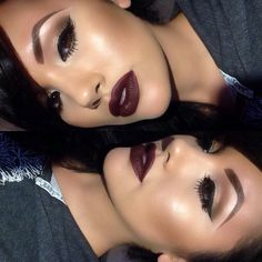 Trendy Makeup Ideas Dramatic Burgundy Lips - Makeup İdeas For Wedding Flawless Makeup, Gorgeous Makeup, Pretty Makeup, Love Makeup, Makeup Inspo, Skin Makeup, Makeup Inspiration, Fall Makeup Looks, Makeup Eyebrows