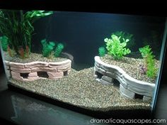 DIY Aquarium Stone Terrace Cave - petdiys.com