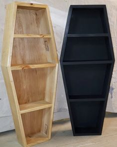 3 Ft coffin shelf made from reclaimed and recycled materials handcrafted Select finish option Dimensions Depth Width at widest points