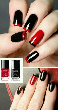10 Hottest Nails Color Ideas 2018 - The most beautiful nail designs Trendy Nail Art, Stylish Nails, Nail Polish, Red Nail Designs, Nail Swag, Super Nails, Hot Nails, Blue Nails, Nail Pink