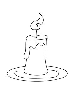 Candle pattern Use the printable outline for crafts creating