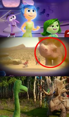 "…or the the Inside Out connection to Forrest Woodbush from The Good Dinosaur. | Disney-Pixar Just Revealed A Ton Of New Easter Eggs And They Will Make You Say, ""Wait, What?!"""