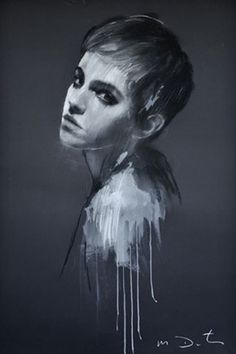 Emma Watson paintings Mark Demsteader (Vogue.com UK)