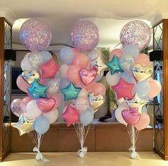 Awesome Balloon Decorations for Baby Shower - baby shower balloons Jojo Siwa Birthday, Unicorn Birthday Parties, Birthday Party Themes, Birthday Ideas, 5th Birthday, Unicorn Party Decor, Unicorn Baby Shower Decorations, First Birthday Balloons, Funny Birthday Cakes