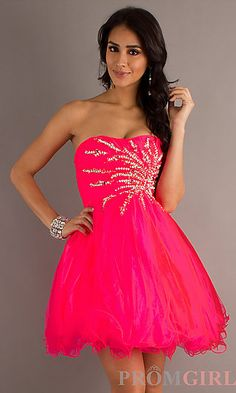 Short Prom Dress by Dave $85 at promgirl.com