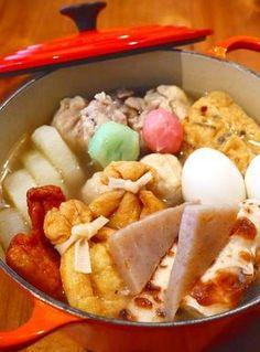 鶏手羽の白だしおでん♪からし味噌をつけて。白だしで楽チン・簡単ほっこりおでん鍋レシピ!