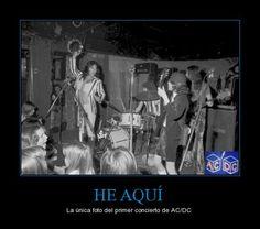 HE AQUÍ - La única foto del primer concierto de AC/DC