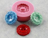 Vintage Button Mold Flexible Silicone Mould Resin, Polymer Clay, Chocolate, Candy, Fondant (290)