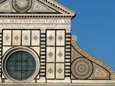 ALBERTI. Santa Maria Novella, Firenze. Detalle de fachada