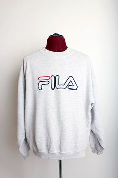 Vintage FILA Embroidered Classic Crewneck Sweatshirt Size XL $45