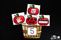 Are your students working on learning about numbers? Incorporate this apple number match up game for a fun Fall themed twist. Apple Unit, Apple Books, Kindergarten Math Activities, Fun Math, Maths, Apple Life Cycle, Apple Activities, Apple Theme, Number Matching