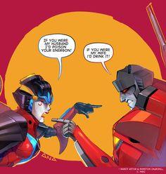 Windblade vs. Starscream by Valong.deviantart.com on @DeviantArt