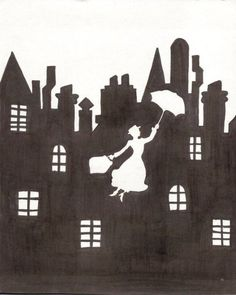 Mary Poppins Chimney Sweep Silhouette Images Mary Poppins on Pinter...