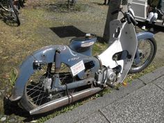 Custom and vintage motorcycle related images and information. Mostly related to chopper bobber custom digger classic vintage and old bikes. Honda Cub, Moto Bike, Motorcycle Bike, Custom Moped, Small Cafe, Classic Bikes, Vintage Bikes, Cars And Motorcycles, Cubs