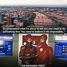 I think at this point Im believing in the impossible because Ezra and Grant meeting was definitely something Television Program, The Flash, Hulk, To Tell, Superman, Something To Do, Believe, Told You So, Wonder Woman