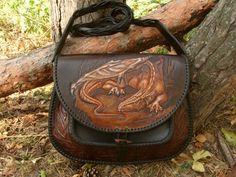 """Leather bag """"Dragon"""""""