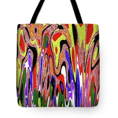 All Colors Attention Hut !! Abstract Tote Bag featuring the photograph All Colors Attention Hut Abstract by Tom Janca