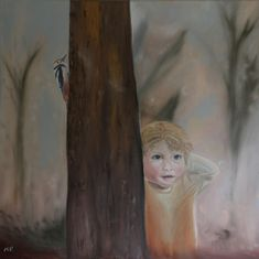 Curiosity, oil painting by Ildiko Mecseri (MEIL), cm. Curiosity of a child is fantastic, and if we can be really curious later in our adult ages, we can save something special. We can see many wonders around us Online Gallery, Oil Painting On Canvas, Curiosity, Child, Age, Paintings, Fictional Characters, Boys, Kid