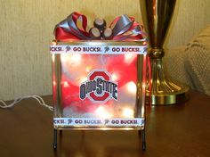 Ohio State Glass Block Light by EDesigns2878 on Etsy, $30.00