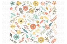 Check out Wedding Floral Clipart by SA ClipArt on Creative Market