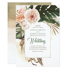 Boho Tropical Floral Desert Wedding Invitation We share the best of boho wedding inspiration styled shoots engagements styling ideas real weddings decor save the date cards invitations favors and more. Photo Wedding Invitations, Baptism Invitations, Engagement Party Invitations, Graduation Invitations, Bridal Shower Invitations, Wedding Stationery, Wedding Programs, Birthday Invitations, Invites