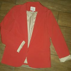 Silence + Noise coral red blazer Small  Coral RED blazer  Perfect Condition Anthro inspired Anthropologie Jackets & Coats Blazers