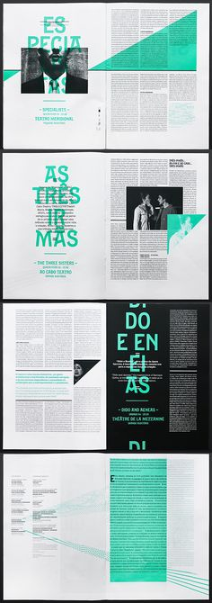 editorial layout Type as texture Design by Atelier Martino & Jaa for the Festivais Gil Vicente design and layout Editorial Design Layouts, Magazine Layout Design, Book Design Layout, Graphic Design Layouts, Print Layout, Magazine Layouts, Newspaper Design Layout, Editorial Design Magazine, Typography Design Layout