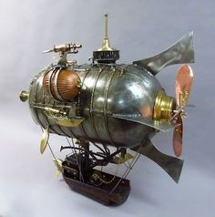 Welcome to the World of Steampunk Imagine a high-tech world where the machines were powered by steam and clockwork mechanisms replaced electronics. Chat Steampunk, Steampunk Ship, Steampunk Wings, Arte Steampunk, Steampunk Weapons, Style Steampunk, Steampunk Design, Steampunk Costume, Steampunk Fashion