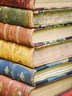~K. stacks of old books ~