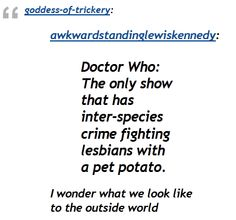 I never thought of Vastra, Jenny, and Strax like that...Bhahahaha  @Abby Christine West